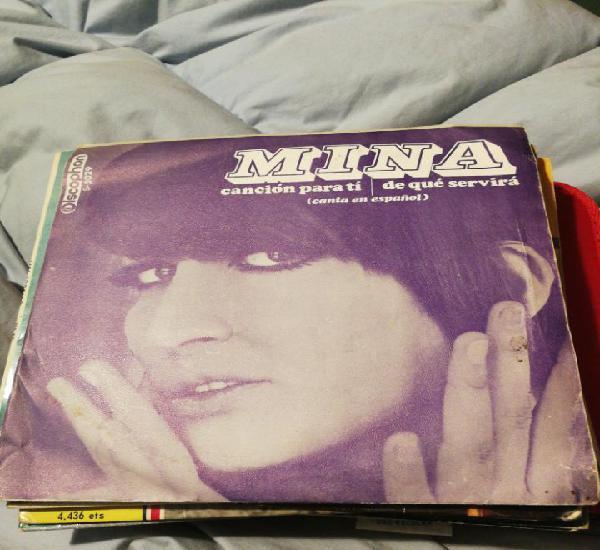 Mina: canción para ti / de qué servirá (discophon 1968)