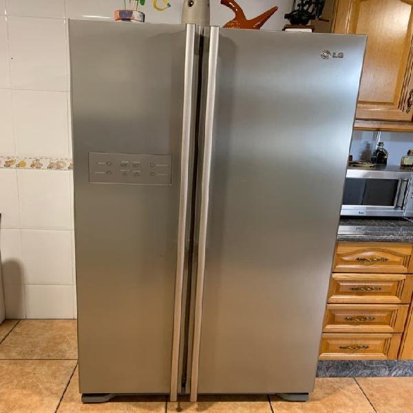 Nevera frigorífico americano inox lg