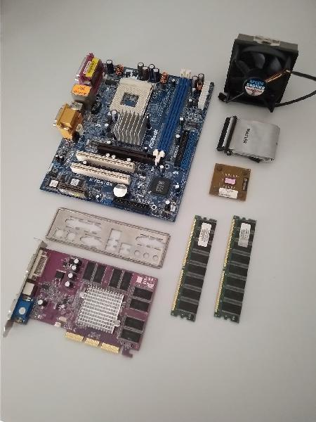 Placa base asrock k7s41gx + ram + athlon xp 2800+