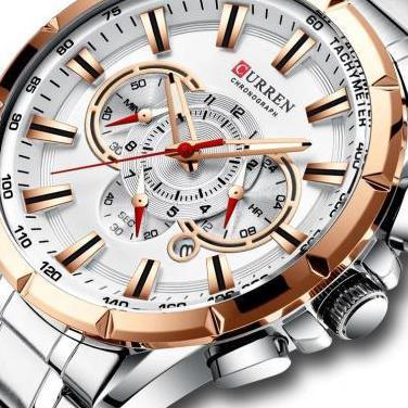 Reloj hombre grande metalico curren cuarzo rf:264