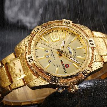 Reloj naviforce cuartzo dorado nuevos rf: 2