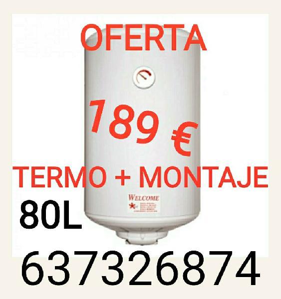 Termo electrico 80l e instalacion 189€
