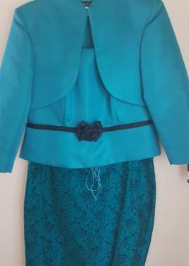 Traje mujer tres pieza - tops, chaqueta y falda