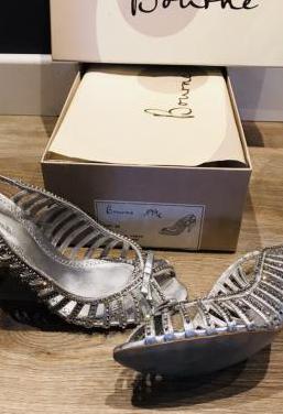 Zapatos piel italianos cristales swarovski t36