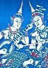 Seda azul de tailandia