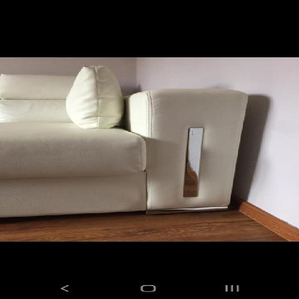 Sofá blanco polipiel