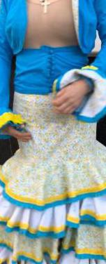 Traje de flamenca talla 36