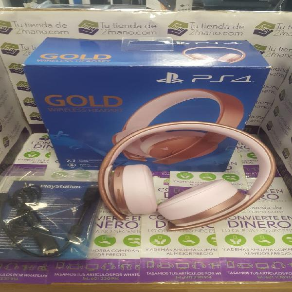 Auriculares sony ps4 gold wireless headset