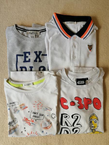 Camisetas manga corta t.6-7 años -lote 4 uds.-