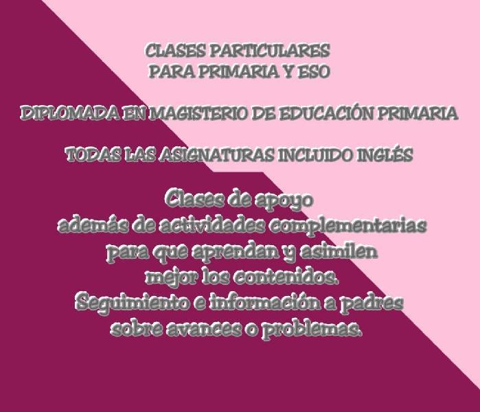 Clases particulares / niñera