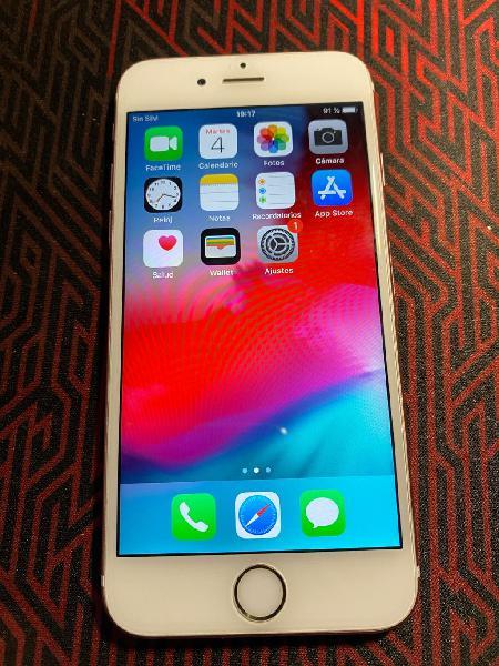 Iphone 6s oro rosa, casi nuevo