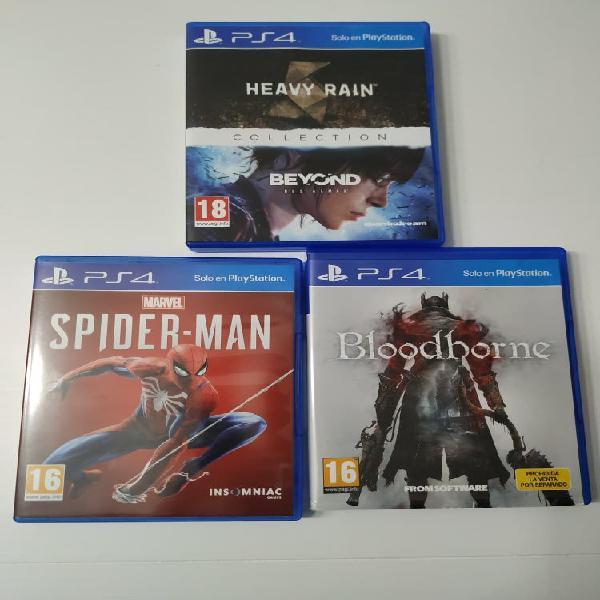 Juegos ps4 spiderman y otros