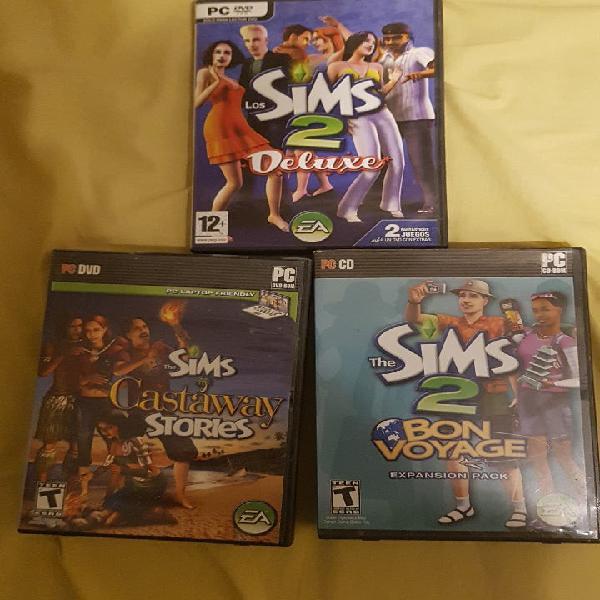 Los sims 2 deluxe + dos expansiones.