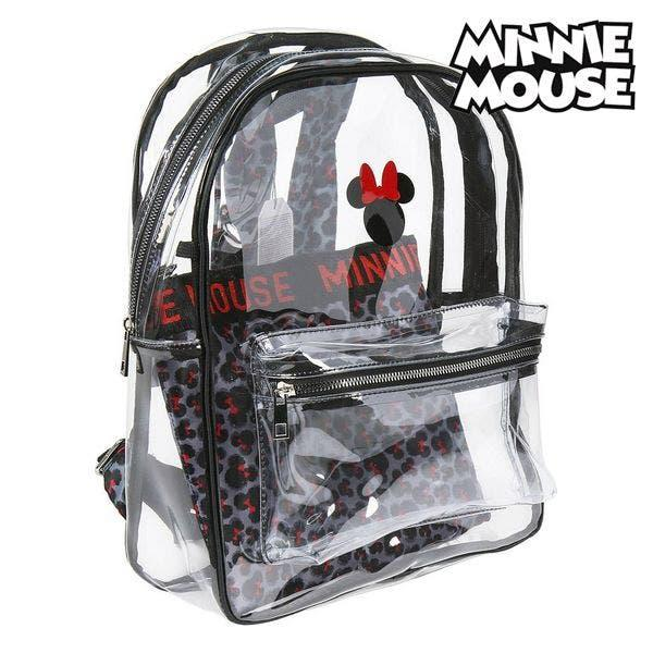 Mochila escolar minnie mouse transparente negro.