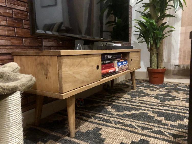 Mueble tv madera maciza 100% natural