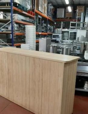 Barra mostrador madera usada