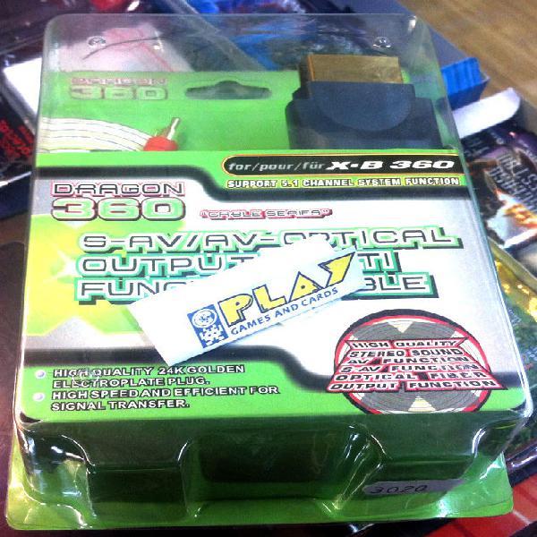 Cable rca y s-video microsoft xbox 360 nuevo soporta 5.1