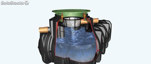Depósito para reutilización del agua de lluvia 5000l -