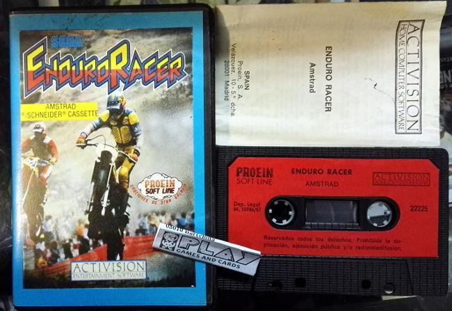 Enduro racer cinta tape pal españa amstrad proein soft line