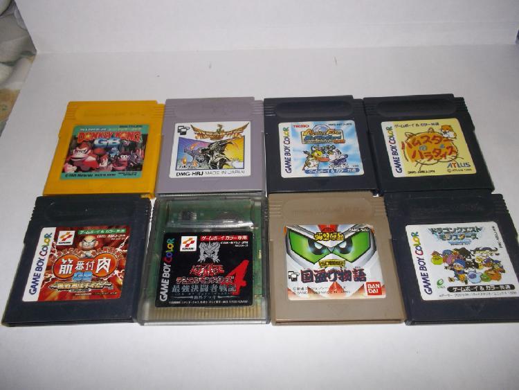 Gameboy lote 8 juegos super donkey kong, hiryu no ken,