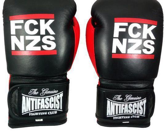 Guantes boxeo, de piel, modelo fck nzs (antifascist fc)