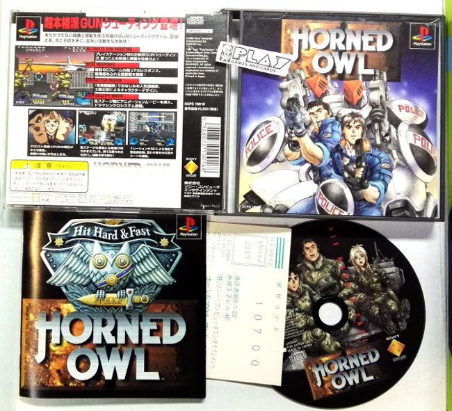 Horned owl ntsc japan muy buen estado playstation psx ps1