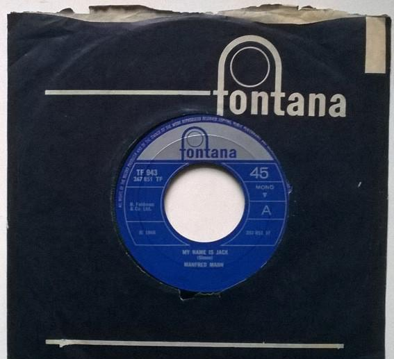 Manfred mann. my name is jack/ there is a man. fontana, uk