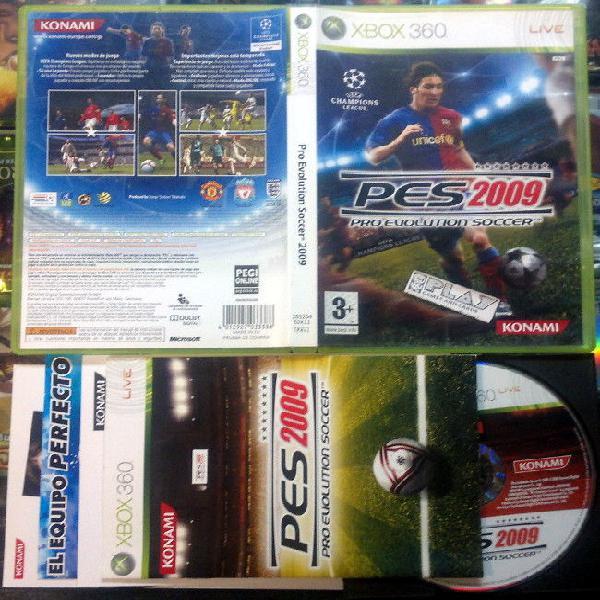 Pes 2009 pro evolution soccer pal españa xbox 360 envio