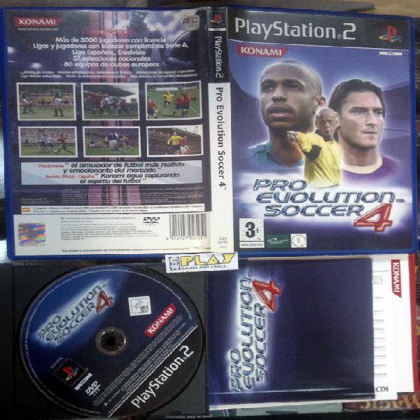 Pro evolution soccer pes 4 iv pal españa completo buen