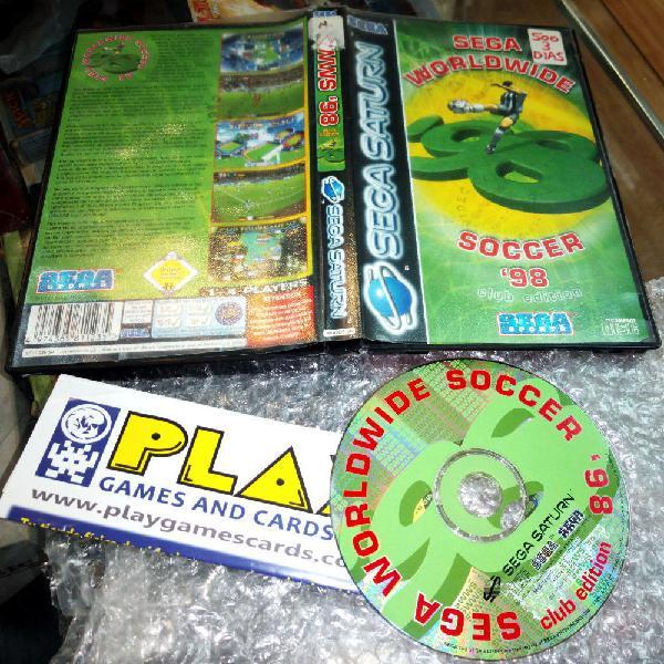 Sega worldwide soccer 98 club edition sega saturn pal