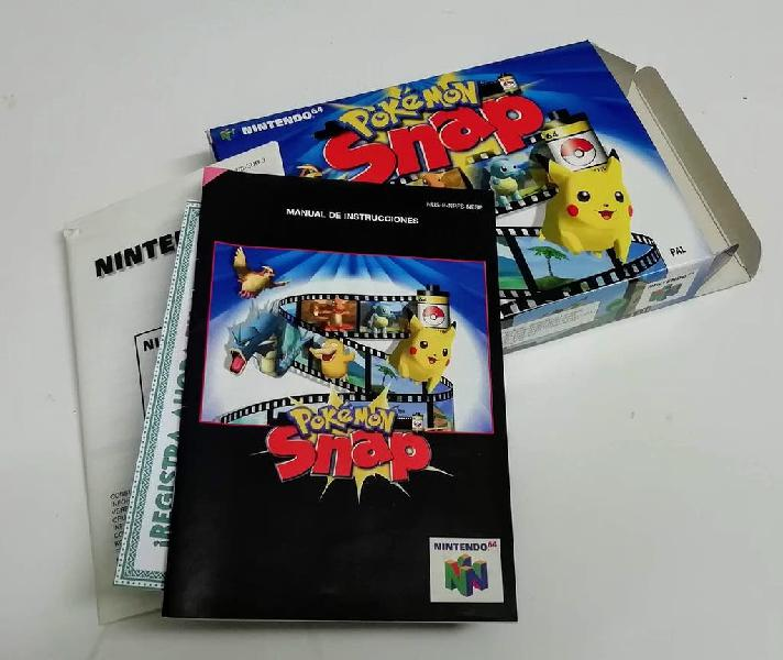 Caixa pokémon snap nintendo 64