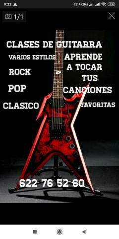 Clases de guitarra para aprender a tocar tus canciones