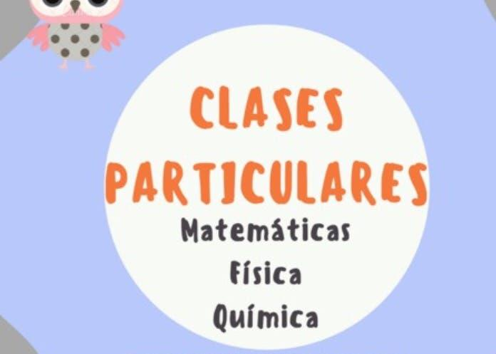 Clases particulares, matemáticas, física...