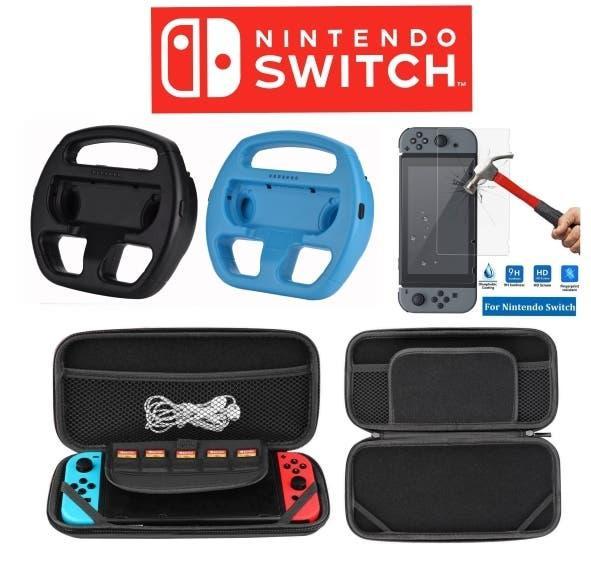 Kit 4 accesorios nuevos nintendo switch