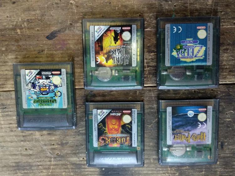 Lote 5 juegos game boy color
