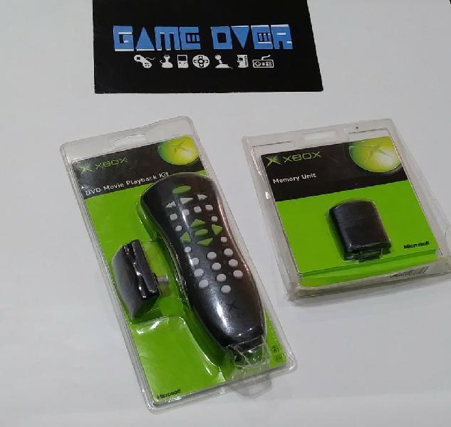 Memory unit y mando a distancia original xbox