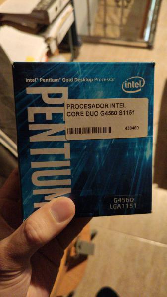 Microprocesador intel core duo g4560 1151