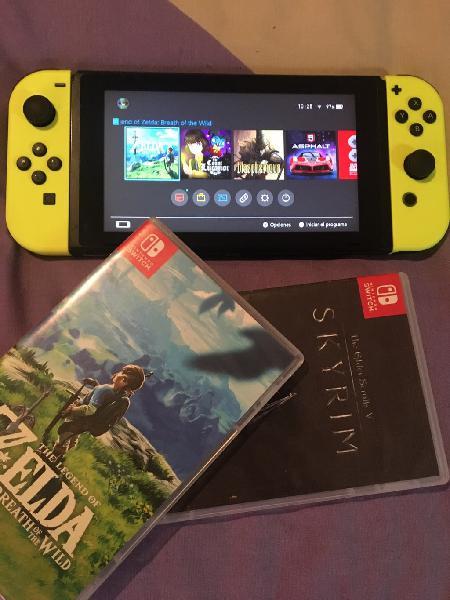 Nintendo switch zelda skyrim