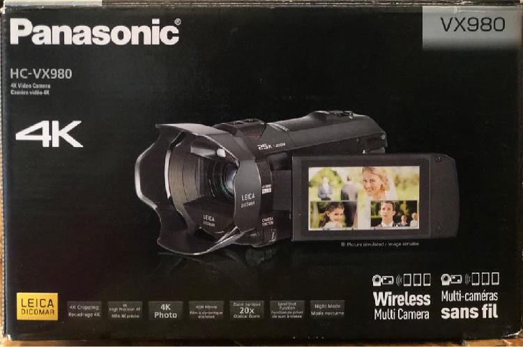 Nueva videocámara profesional panasonic hc vx980