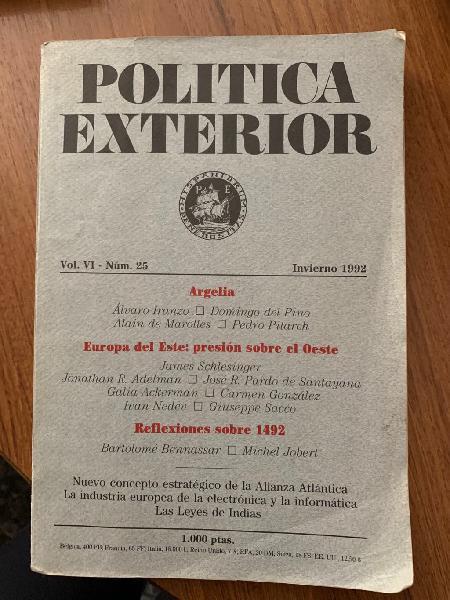 Política exterior: invierno 1992