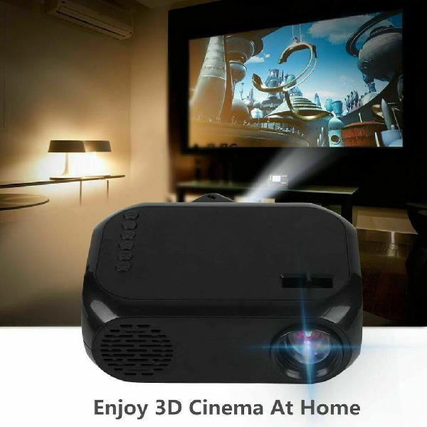 Proyector 1080p led portatil cine casa usb av hdmi