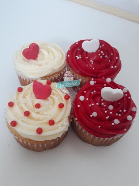Regala cupcakes el día de los enamorados