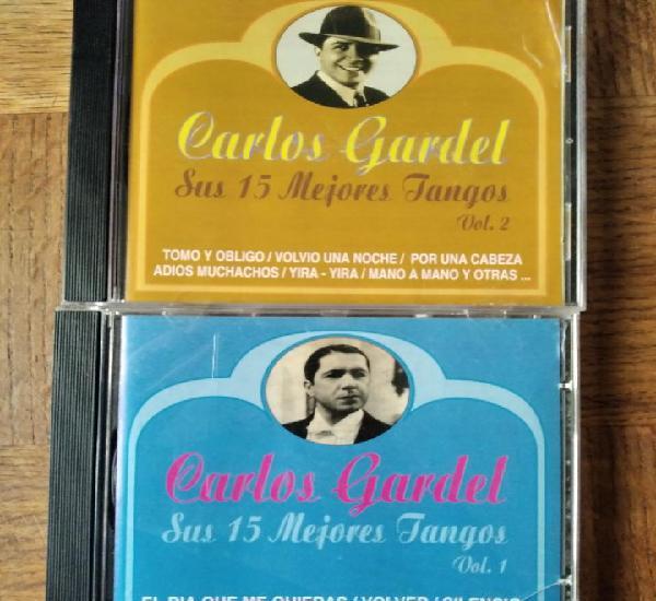Carlos gardel - sus 15 mejores tangos vol.1 & 2 - doble cd-