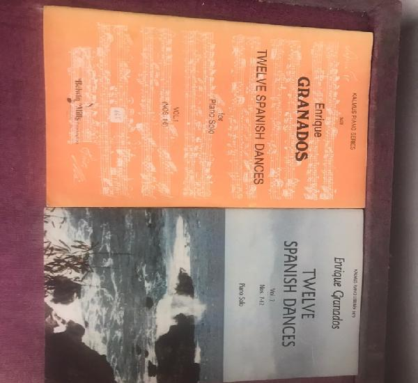 Colección de partituras para piano enrique granados