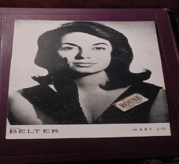 Mary lo - artistas belter - tarjeton promocional - 24,5x17