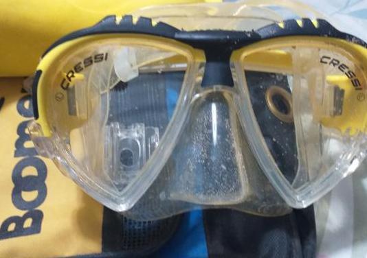 Máscara buceo cressi aletas tubo