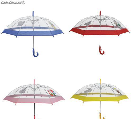 Paraguas transparente infantil 3460