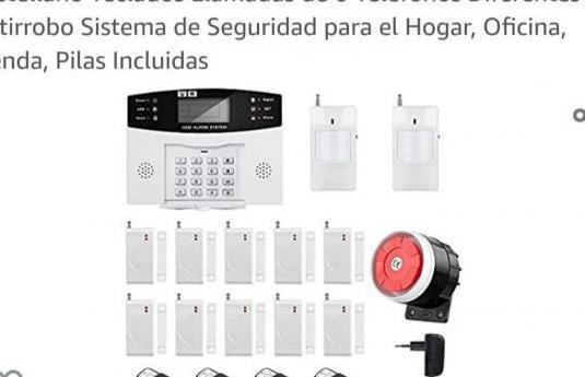 Sistema de alarma gsm/sms lcd pantalla