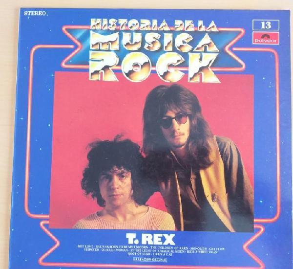 T. rex - historia de la musica rock. num 13 (lp) 1982