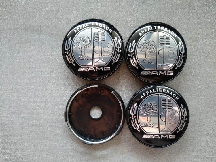 4 tapabujes centro de ruedas amg arbol negro 60mm.